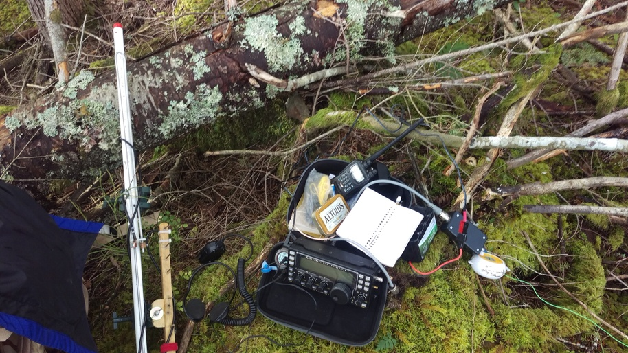 Image of operating position on summit, W7W/KG-125