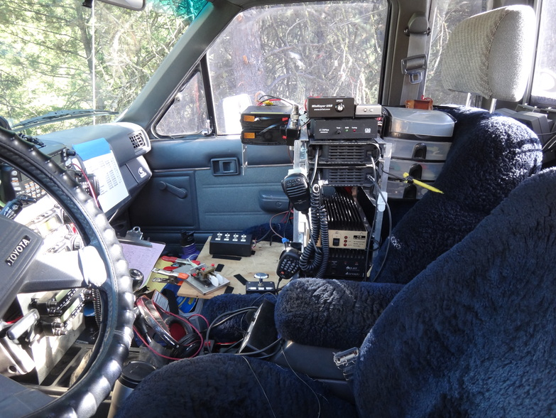 Photo of the equipment rack